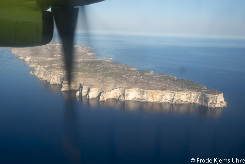 Lampedusa dall'alto